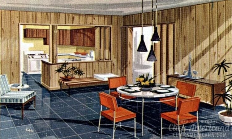 Seven room home plan from 1961 - Flexible living 7109
