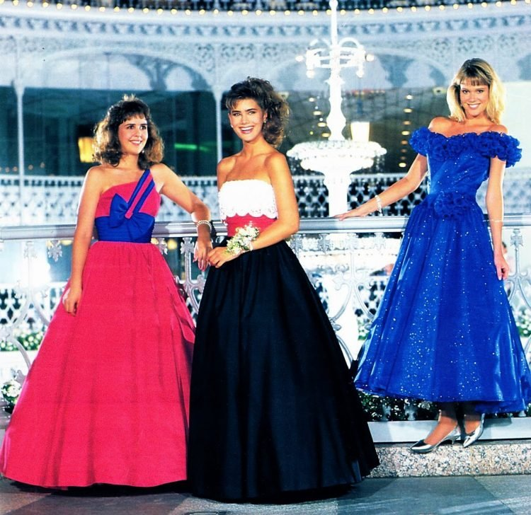 Seventeen prom dresses from 1987