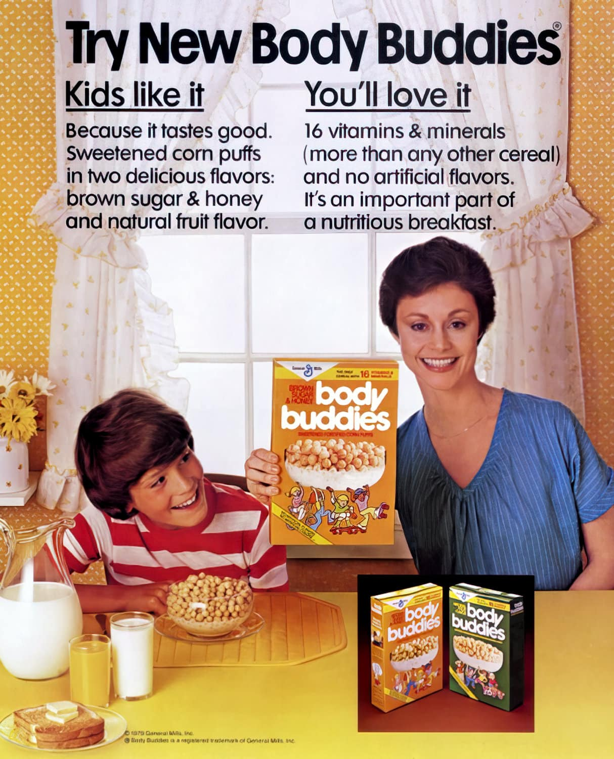 Seventies cereal Body Buddies (1979)