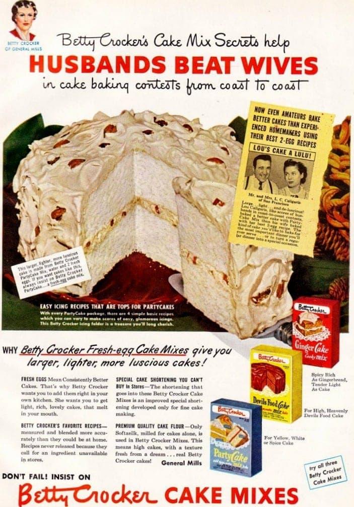 Sexist vintage ad - husbands beat wives Dec 1949