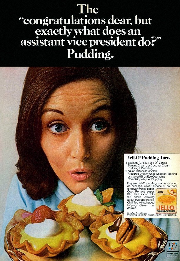 Sexist vintage pudding ad - Congratulations