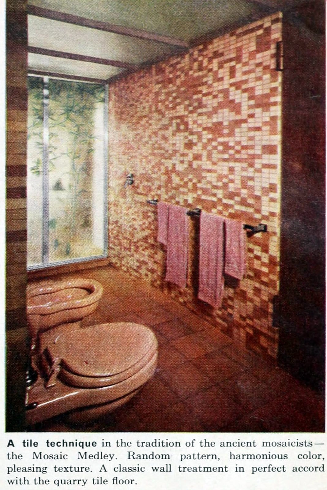 Shades of pink for a bathroom remodel in the fifties