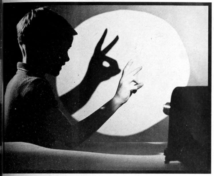 Shadows on the wall - Stuff for bored kids to do with ideas from the sixties