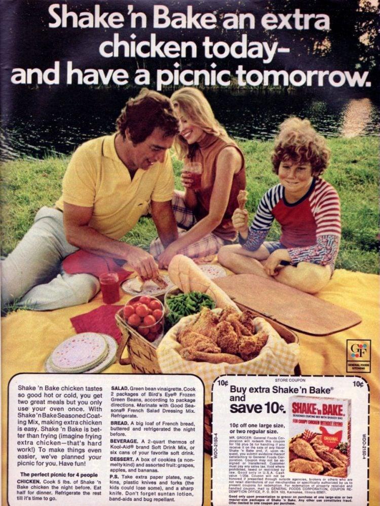 Shake 'n Bake Picnic The perfect picnic for 4-july-1973