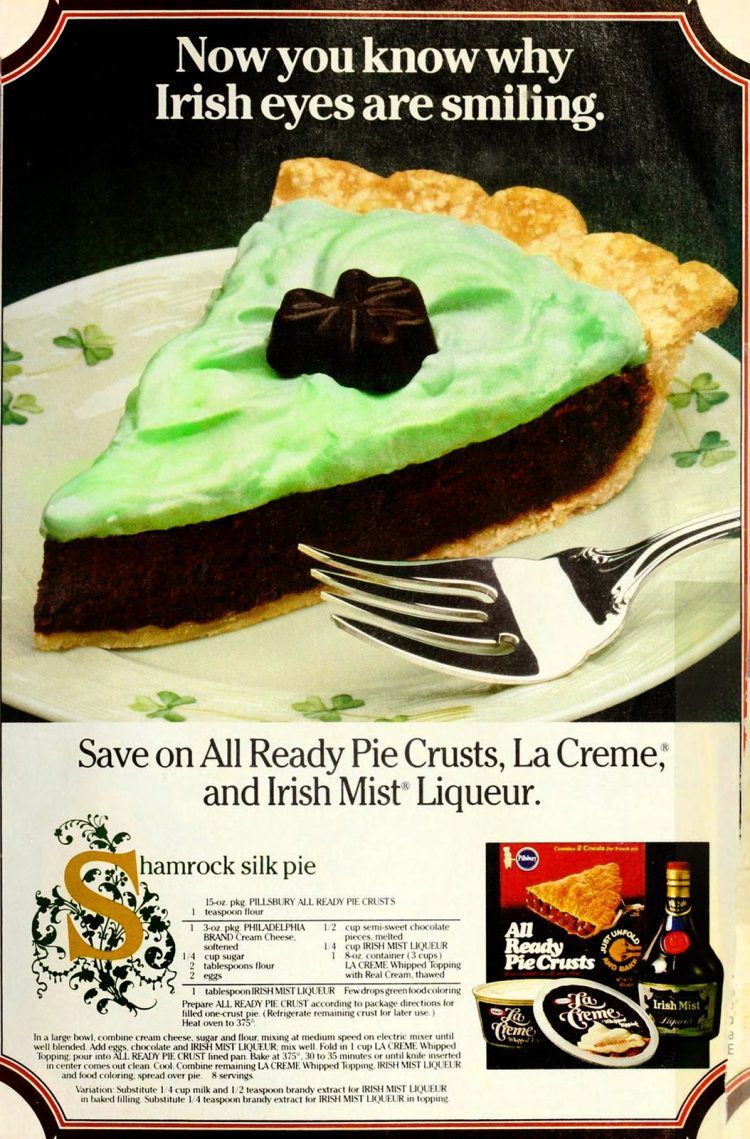 Shamrock silk pie recipe 1986 (2)