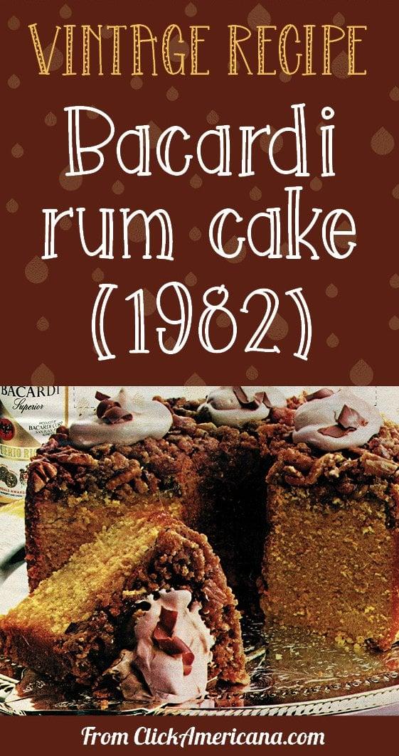 Share the Bacardi rum cake