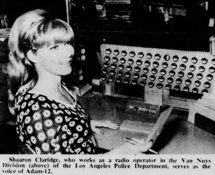 Sharon Claridge - Radio operator LAPD for Adam-12 TV - 1973