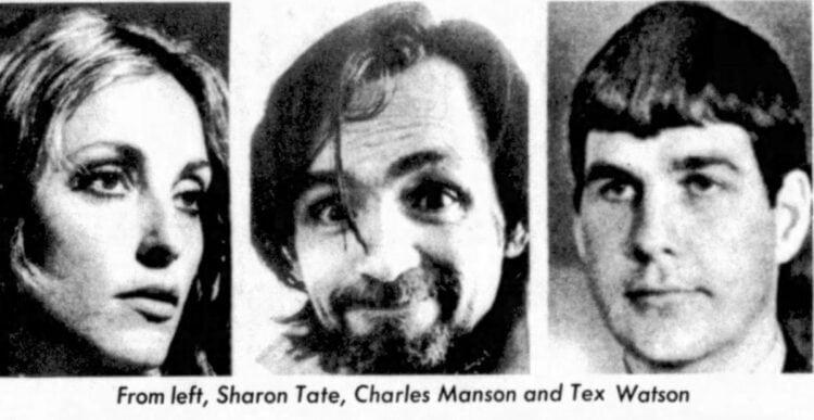 Sharon Tate, Charles Manson and Tex Watson