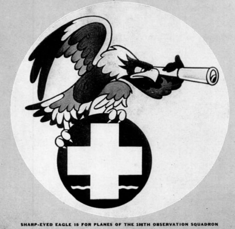 Sharp-eyed eagle is for planes of the 108th observation squadron