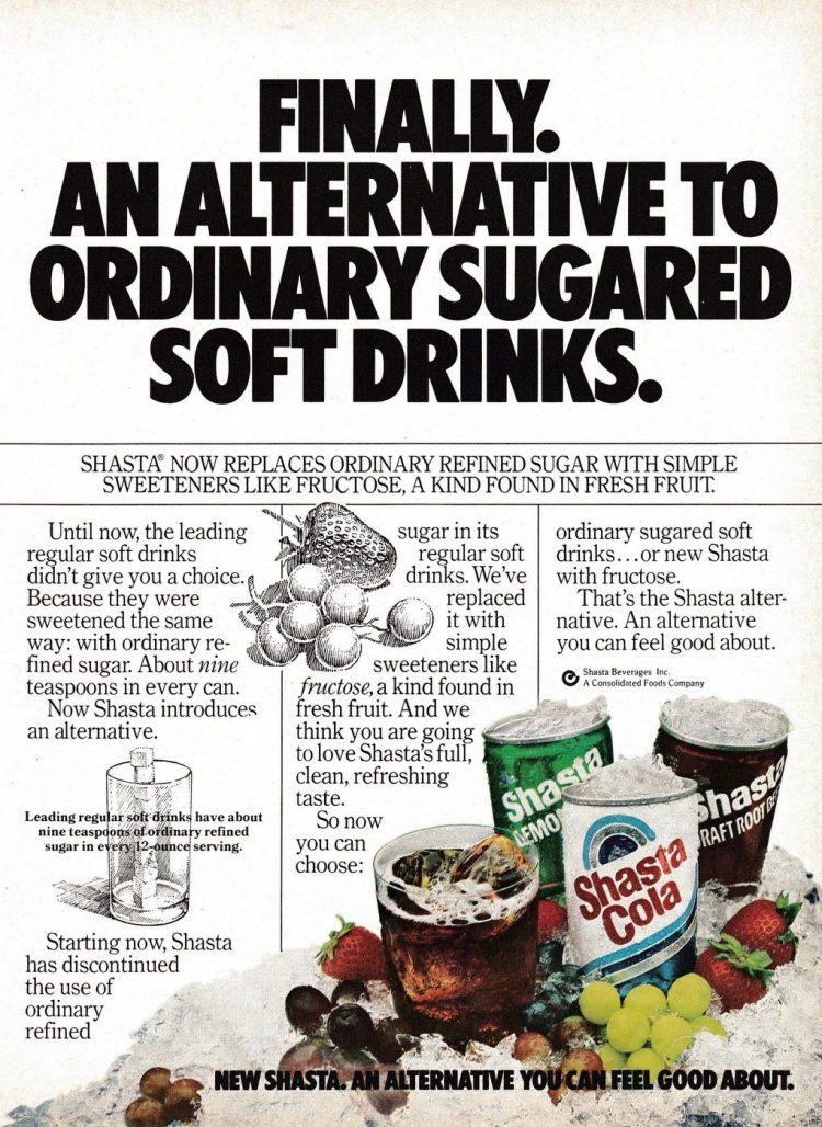 Shasta sodas - Drinks food 1970s 1980s