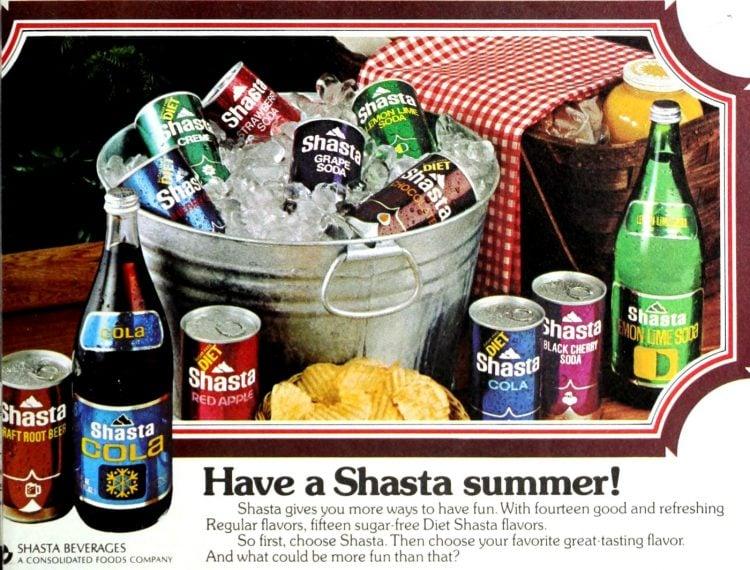 Shasta summer soda - 1974