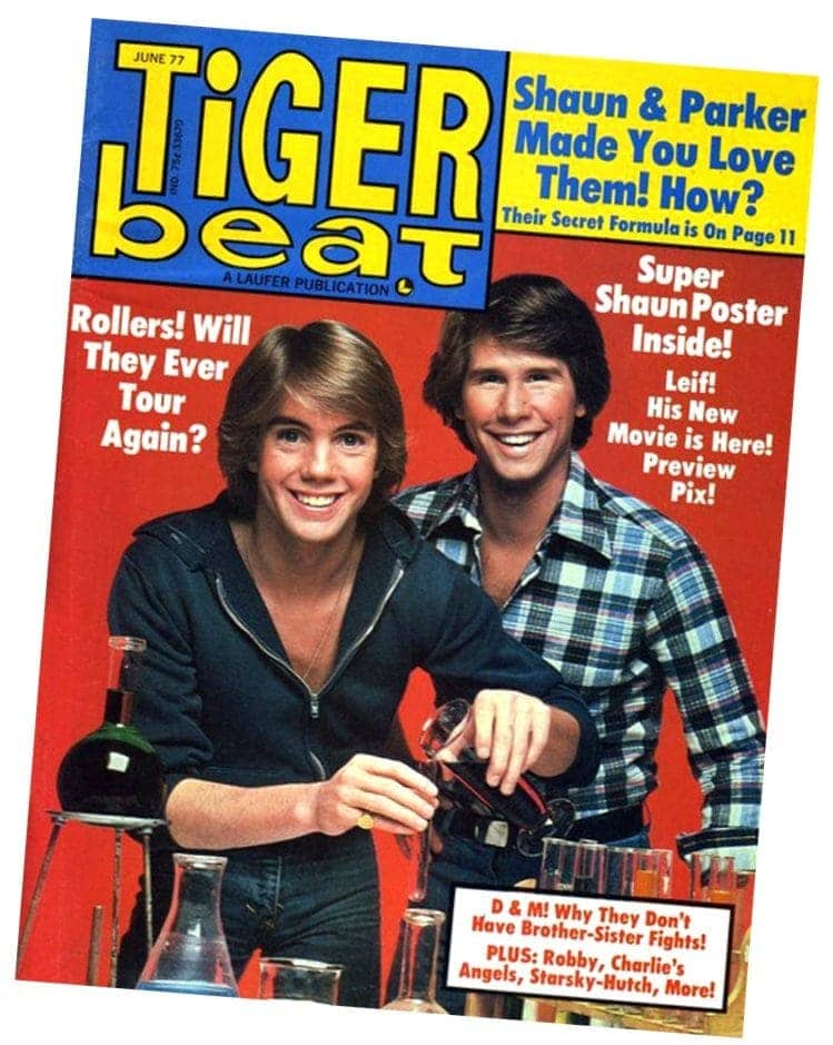 Shaun Cassidy and Parker Stevenson on Tiger Beat cover 1977