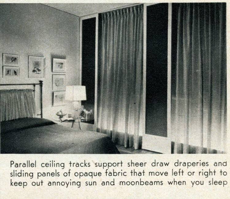 Sheer draperies from 1956