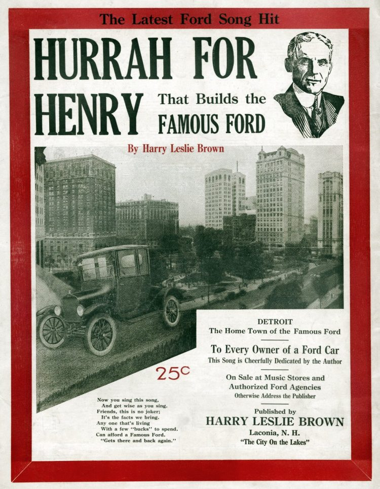 Sheet music - Hurrah for Henry