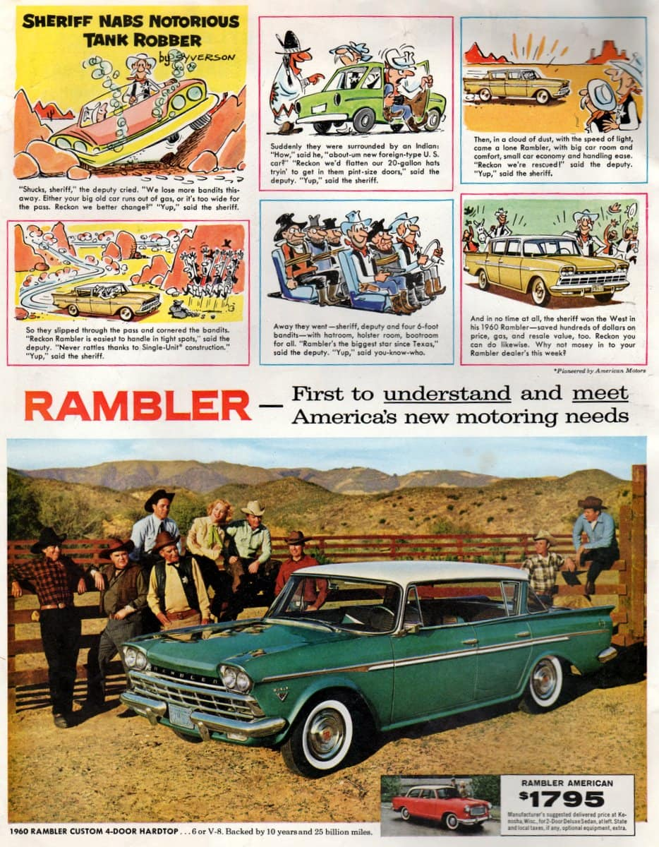 Sheriff won the West in a 1960 Rambler Custom 4-door Hardtop