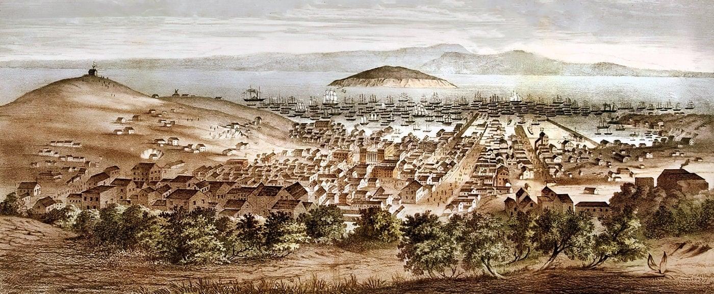 Ships in San Francisco Bay 1851