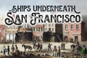 Ships underneath San Francisco