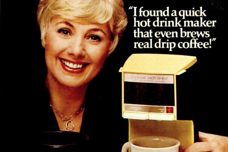 Shirley Jones for Sunbeam Hot Shot II hot coffee drink maker - 1977 (1)