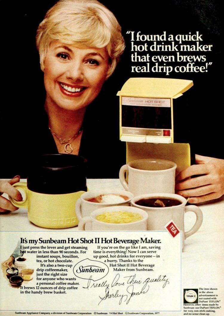 Shirley Jones for Sunbeam Hot Shot II hot coffee drink maker - 1977 (2)