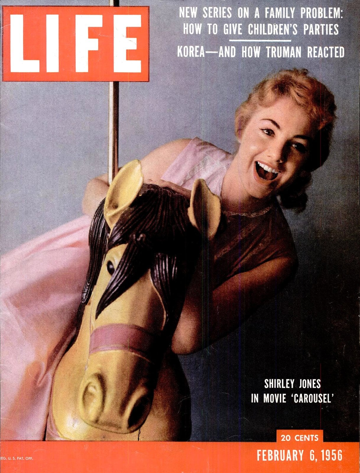 Shirley Jones in the movie Carousel on the cover of Life magazine (1956)