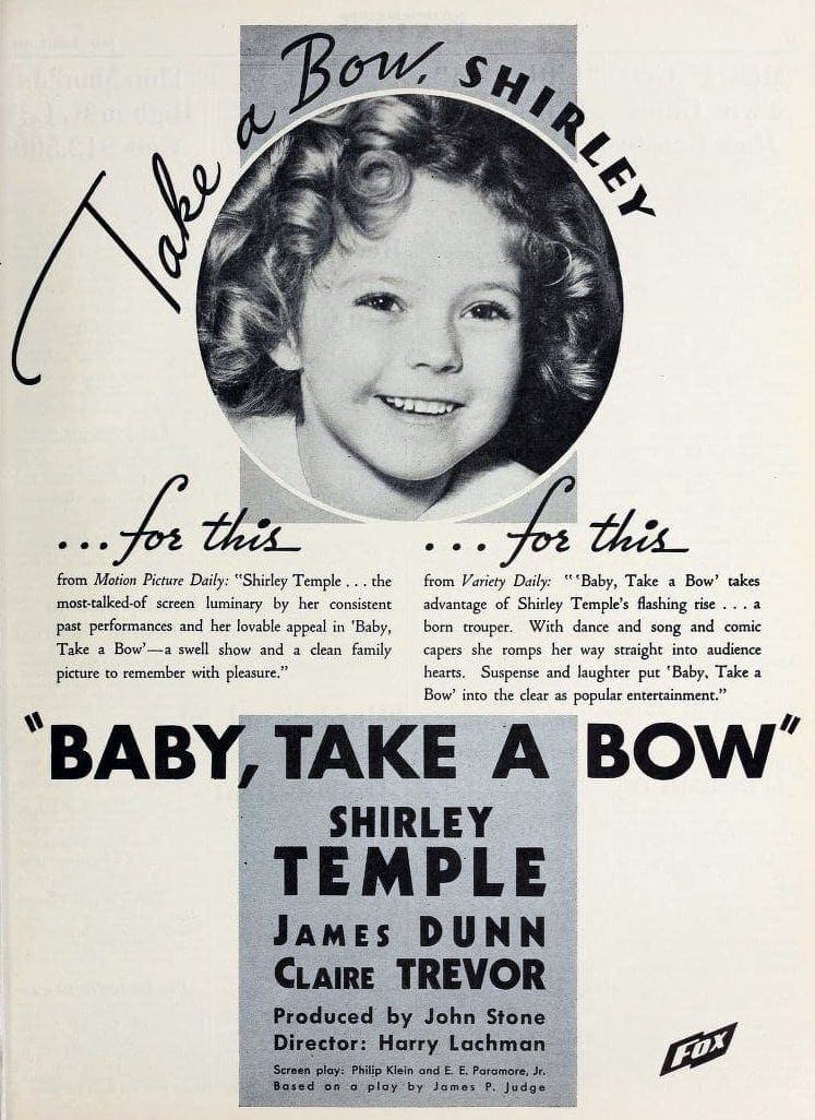 Presenting Miss Shirley Temple in 'Baby Take a Bow' (1934) - Click