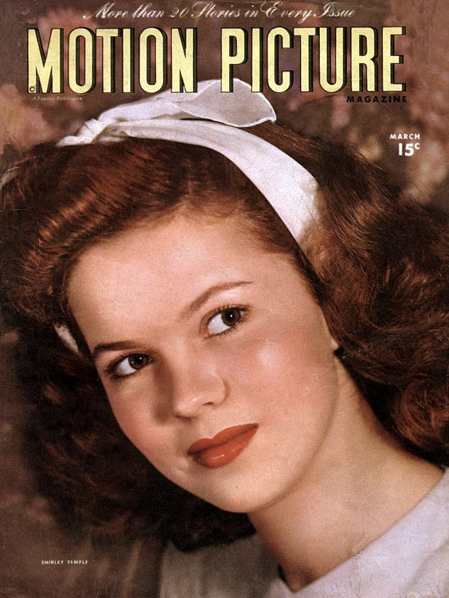 Shirley Temple - Cover of Motion Picture magazine in 1946