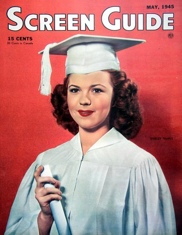 Shirley Temple - Screen Guide magazine 1945