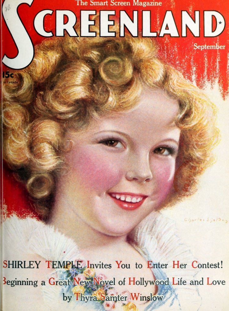 Shirley Temple on Screenland magazine cover - 1930s