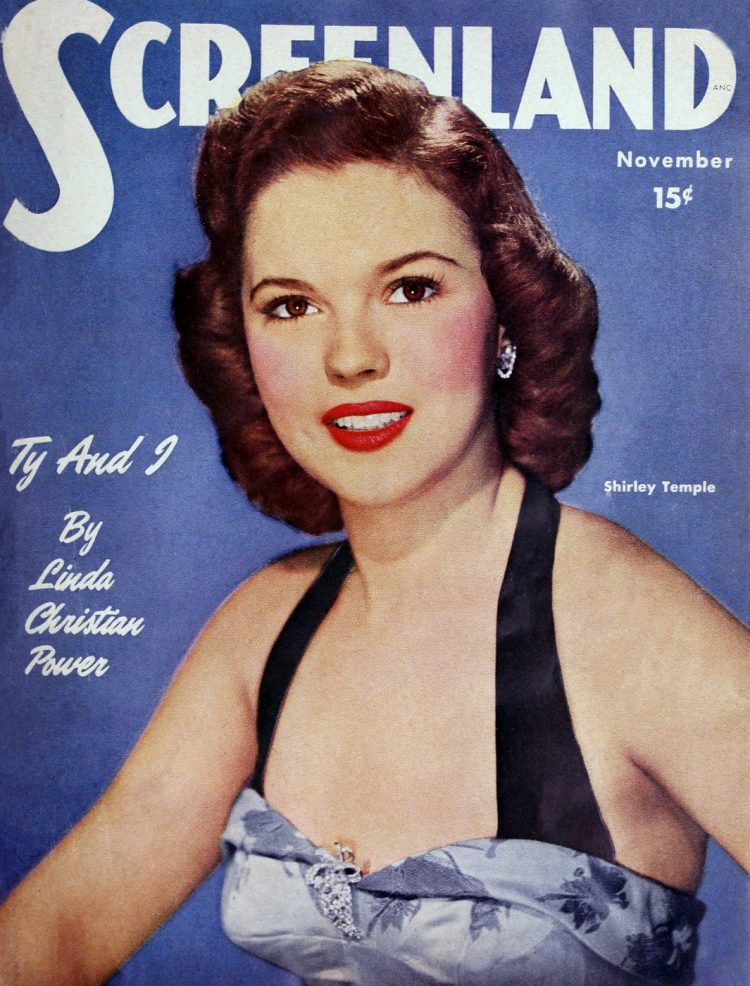 Shirley Temple on Screenland magazine cover - 1950