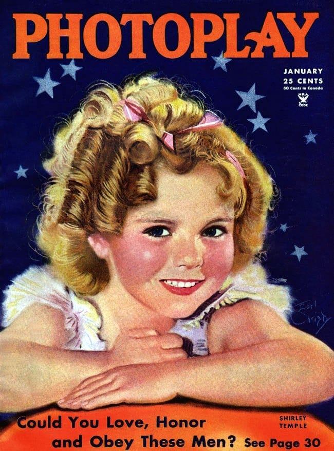 Shirley Temple on the cover of Photoplay magazine - 1935