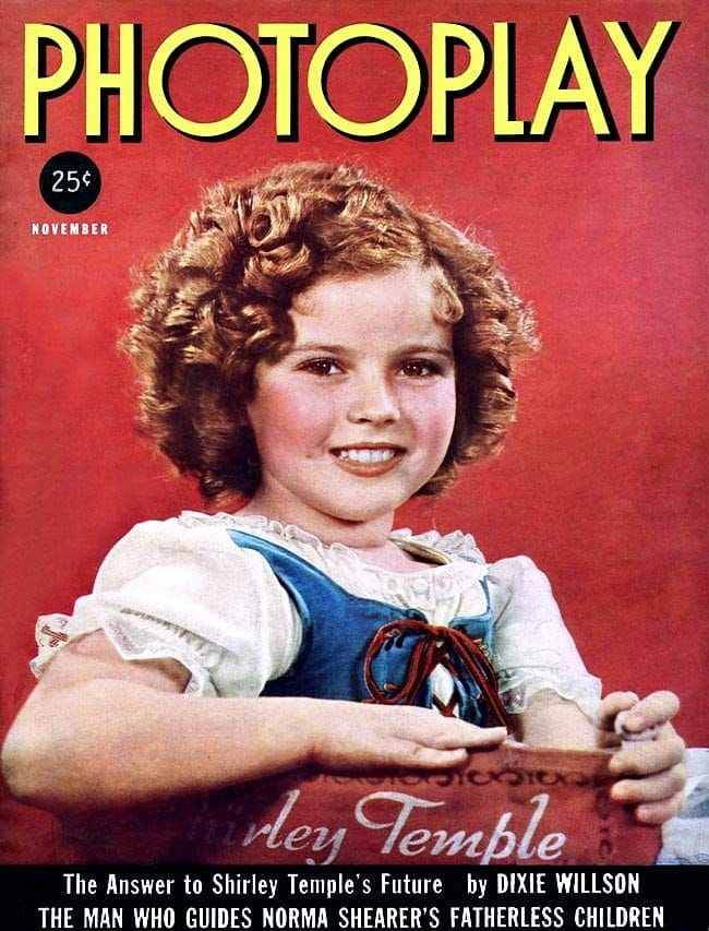 Shirley Temple on the cover of Photoplay magazine - 1937