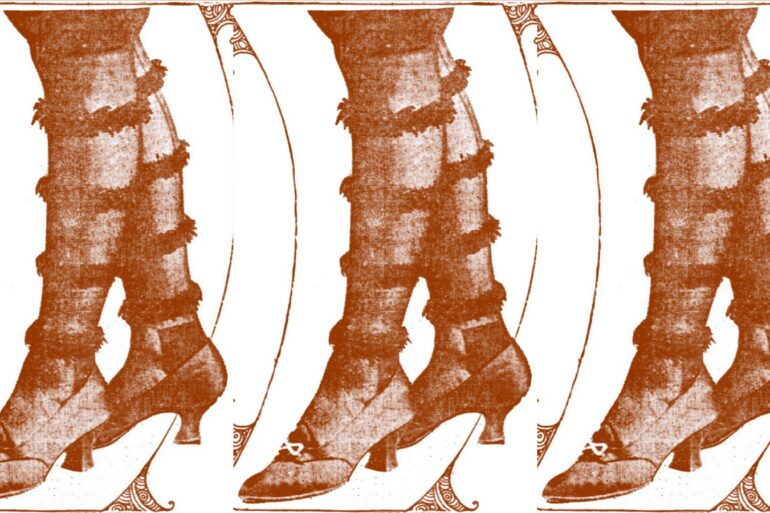 Shocking Fur-trimmed stockings latest for dancing (1915)