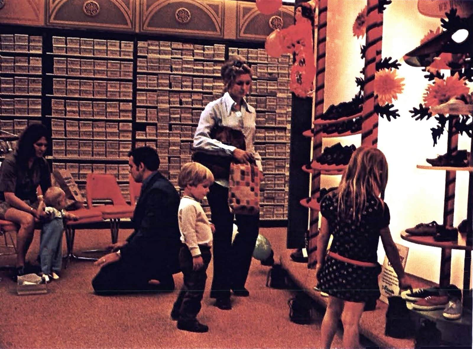 Shoe shopping with kids in 1970