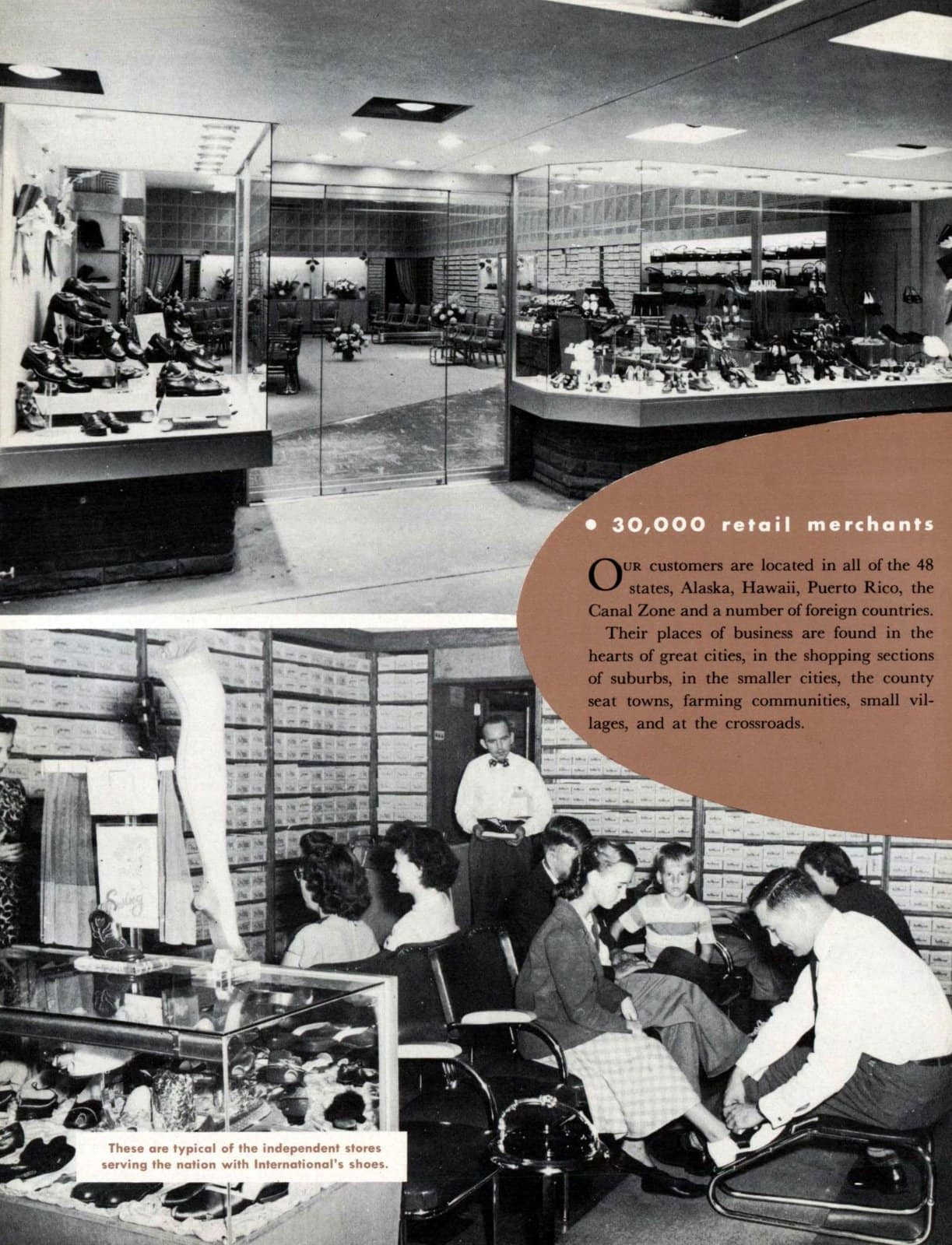 Shoe store scenes from 1950