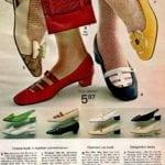 Vintage cobra-look leather blunt-toe low heels, slingbacks, cut-out daisy for swinging feet