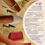 Pretty pastel vintage pumps and heels for women - made of kidskin