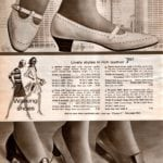 Stylish vintage low-heeled walking shoes for ladies, made with leather - pumps with classic lines