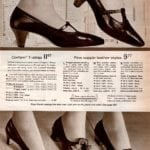 Leather pumps for women - T-straps in black, dark beige and red - plus tailored pumps with bow on vamp
