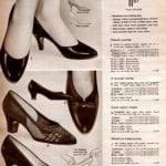 Comfort pumps, V-throat vamp shoes, cool nylon mesh, medium heel pump from the sixties