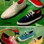 Washable women's Skips shoes - vintage cotton-nylon tennis shoes in bright colors