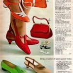 Retro T-strap shoes and slingbacks with short heels and blunt toes, '60s style