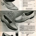 Vintage women's leather shoes and deerskin moccasins for ladies