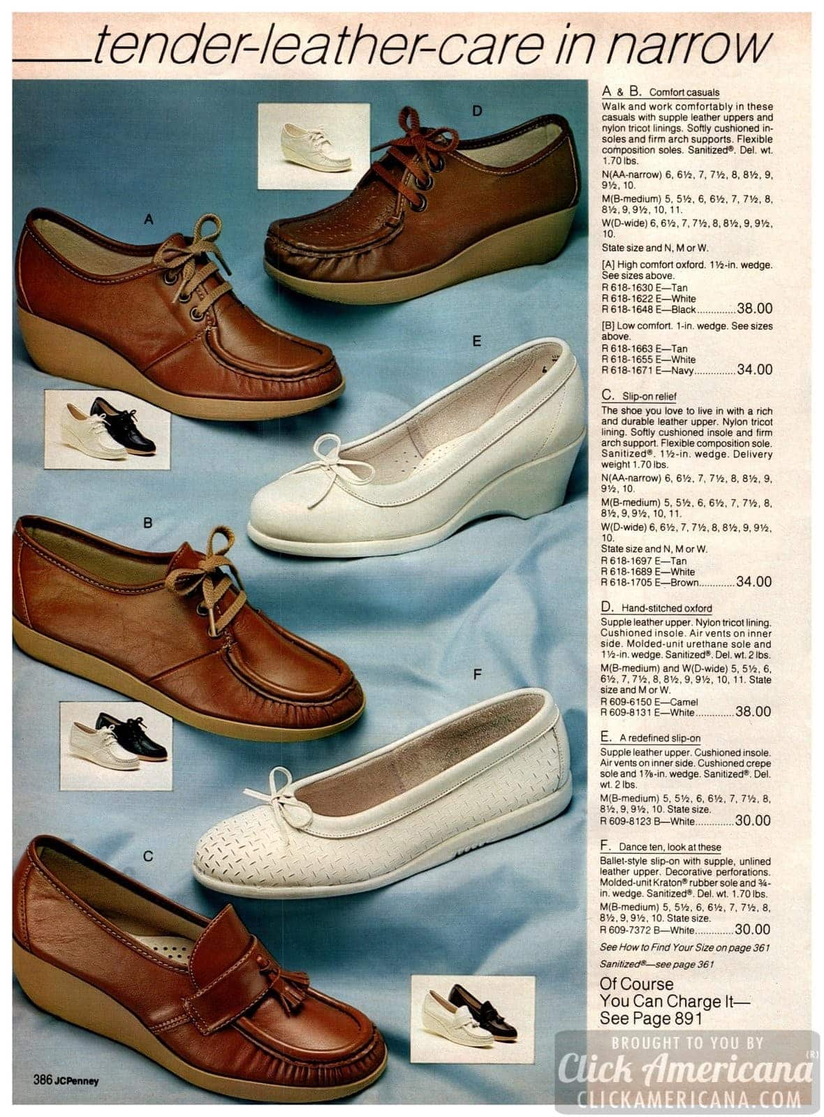 Vintage work shoes for women - comfort casuals, wedge shoes, low-heels and slip-on footwear