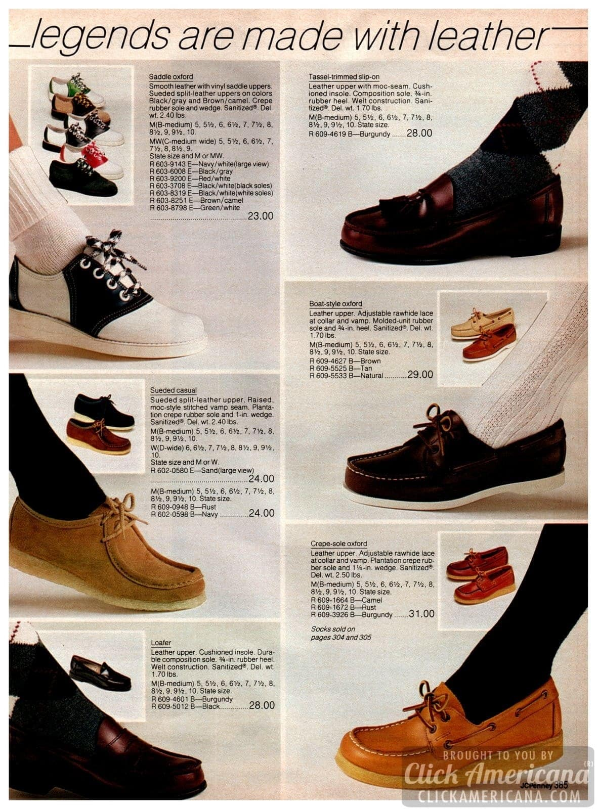 Classic saddle shoes, suede casual moccasins, penny loafers