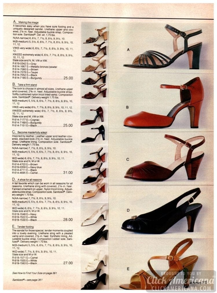 Strappy and sassy vintage high-heels for her from the '90s - sandals, pumps with buckle straps and other styles for ladies