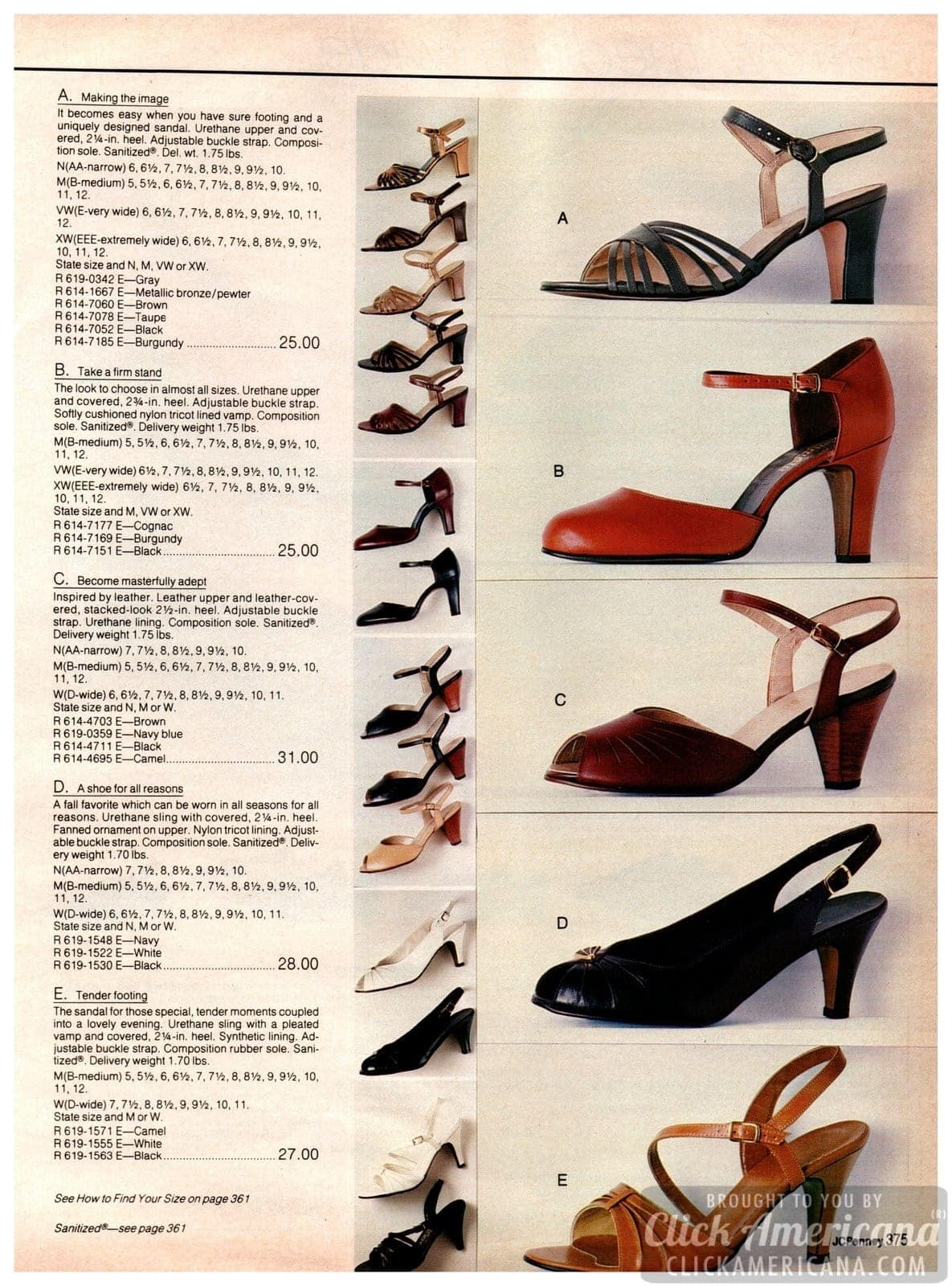 Strappy and sassy vintage high-heels for her from the '80s - sandals, pumps with buckle straps and other styles for ladies
