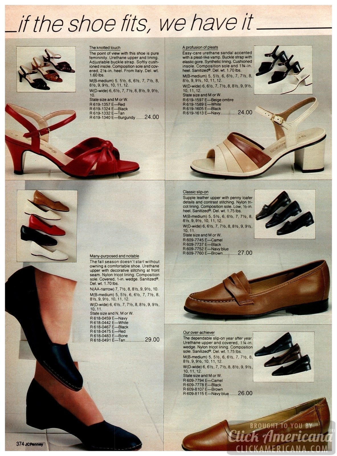 Strappy eighties shoes for ladies - square heels, strappy pumps, penny loafers, flats and other stylish soles