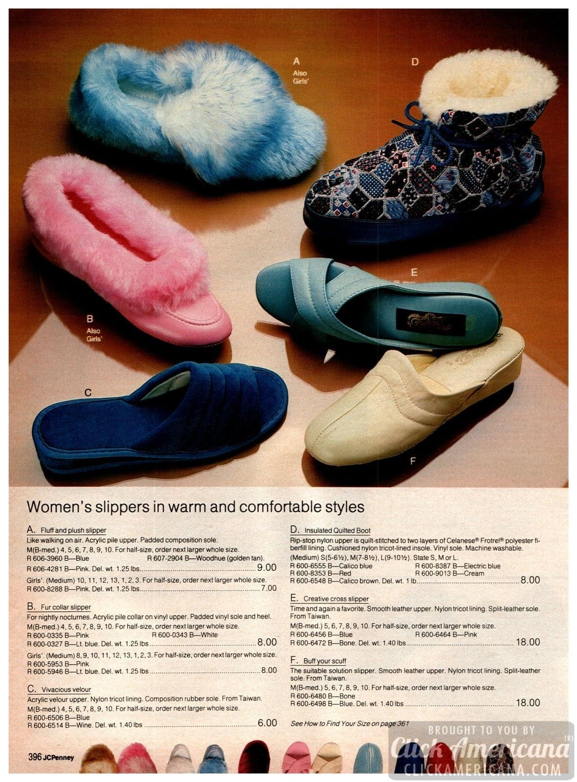 Retro slippers for women - warm and comfortable styles - velour, faux fur and more