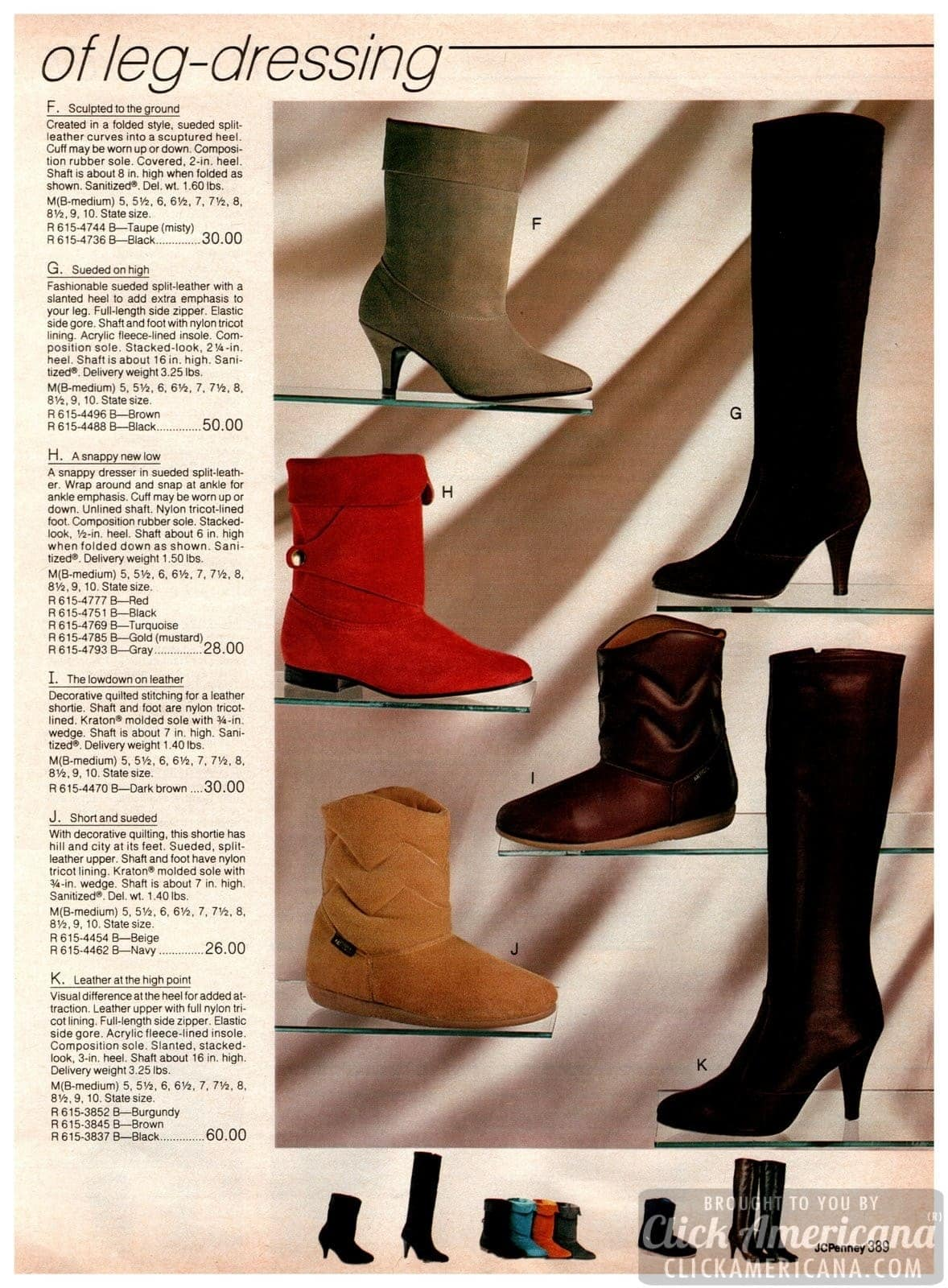 Tall and short ankle-length boots with and without heels - Vintage classics for women