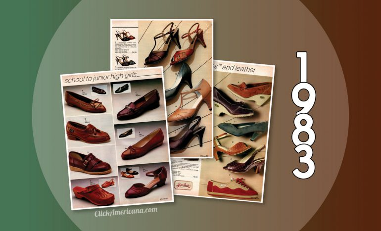 Shoes for women from the 1983 JC Penney catalog